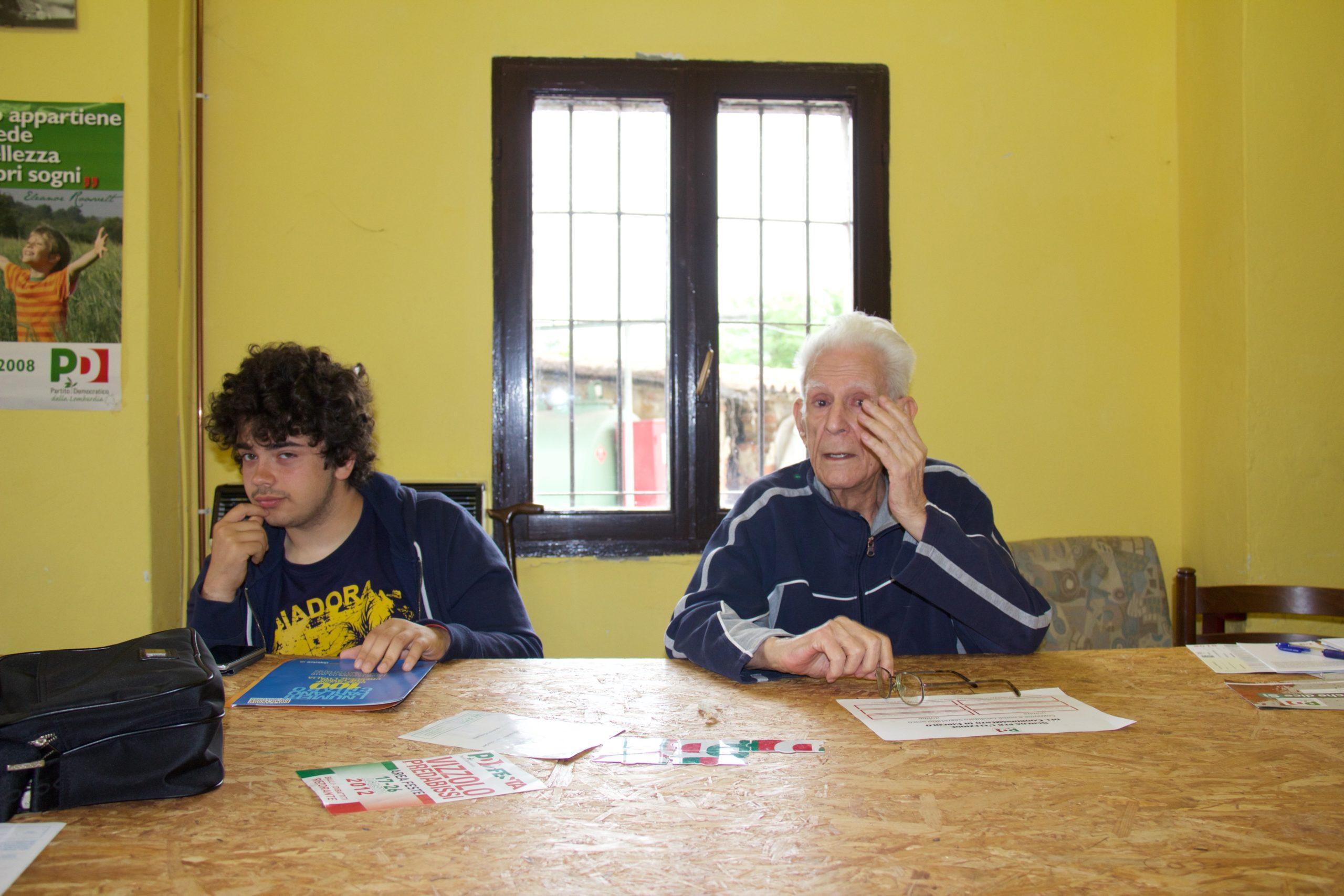 Mario, 97 anni, e Francesco, 17 anni: voi siete il PD