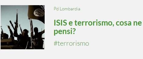 ISIS e terrorismo, cosa ne pensi?