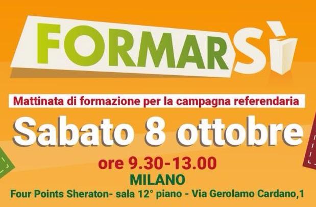 Referendum: una mattina di formazione a Milano