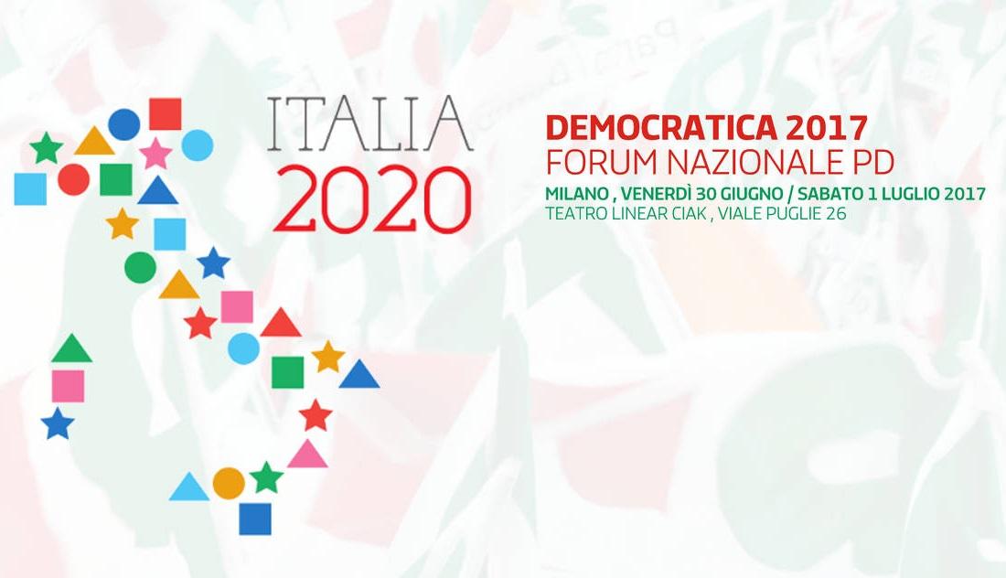 Il forum nazionale del PD a Milano il 30/6 e 1/7