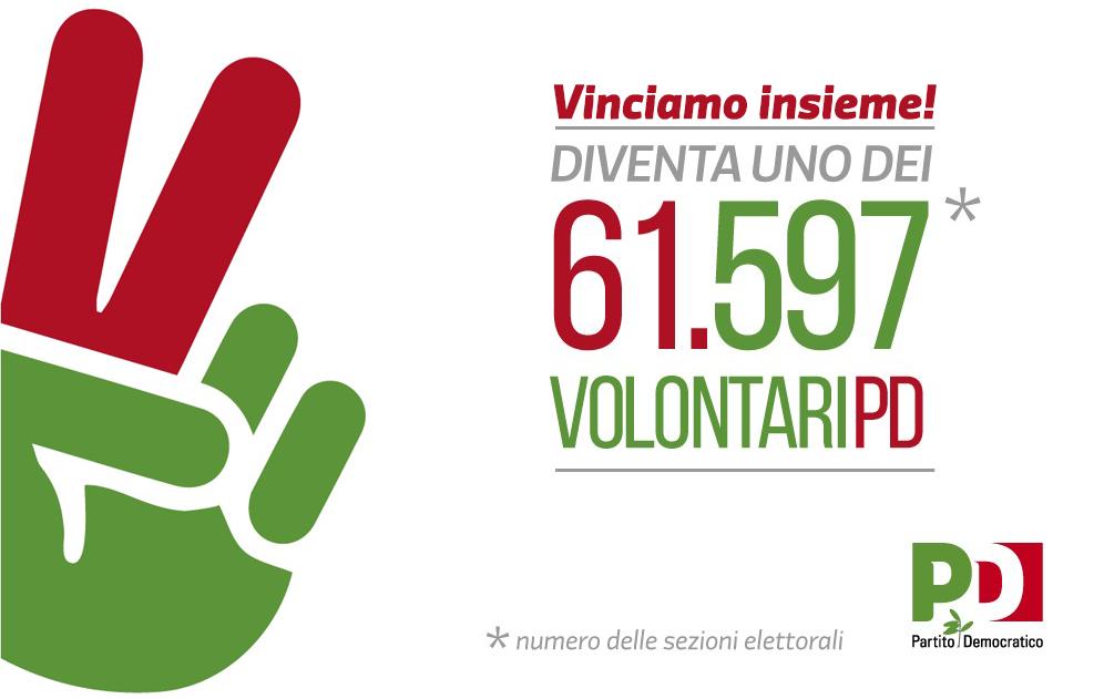 Diventa uno dei 61.597 volontari PD