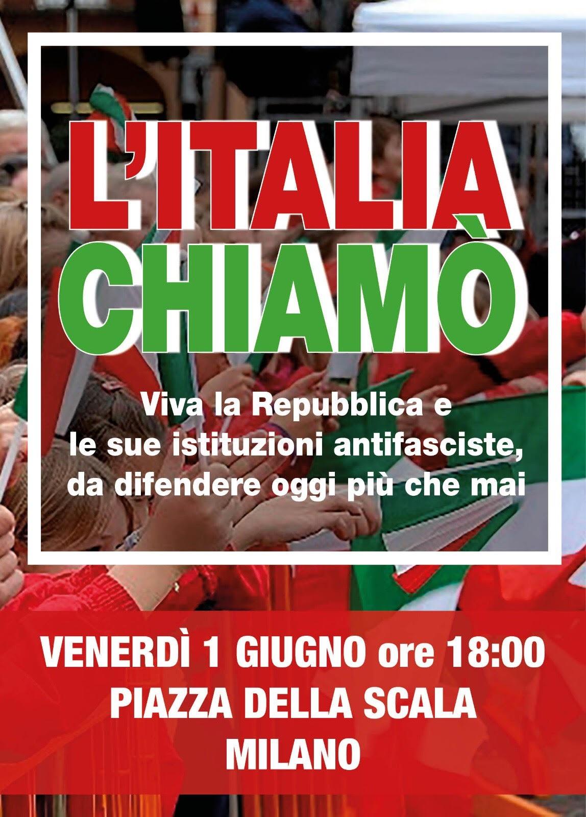 Manifestazione a Milano venerdì 1 giugno ore 18