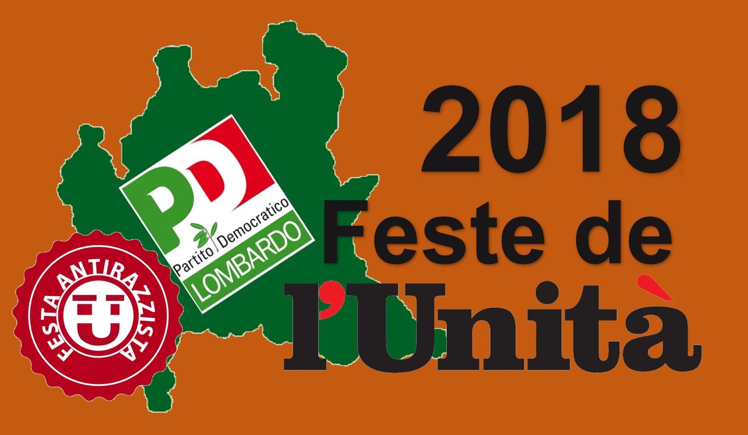 Le Feste de L'Unità 2018 in Lombardia