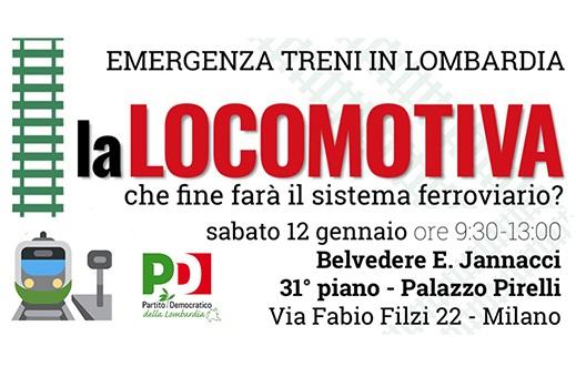 Emergenza treni: convegno PD al Pirellone sabato 12 gennaio