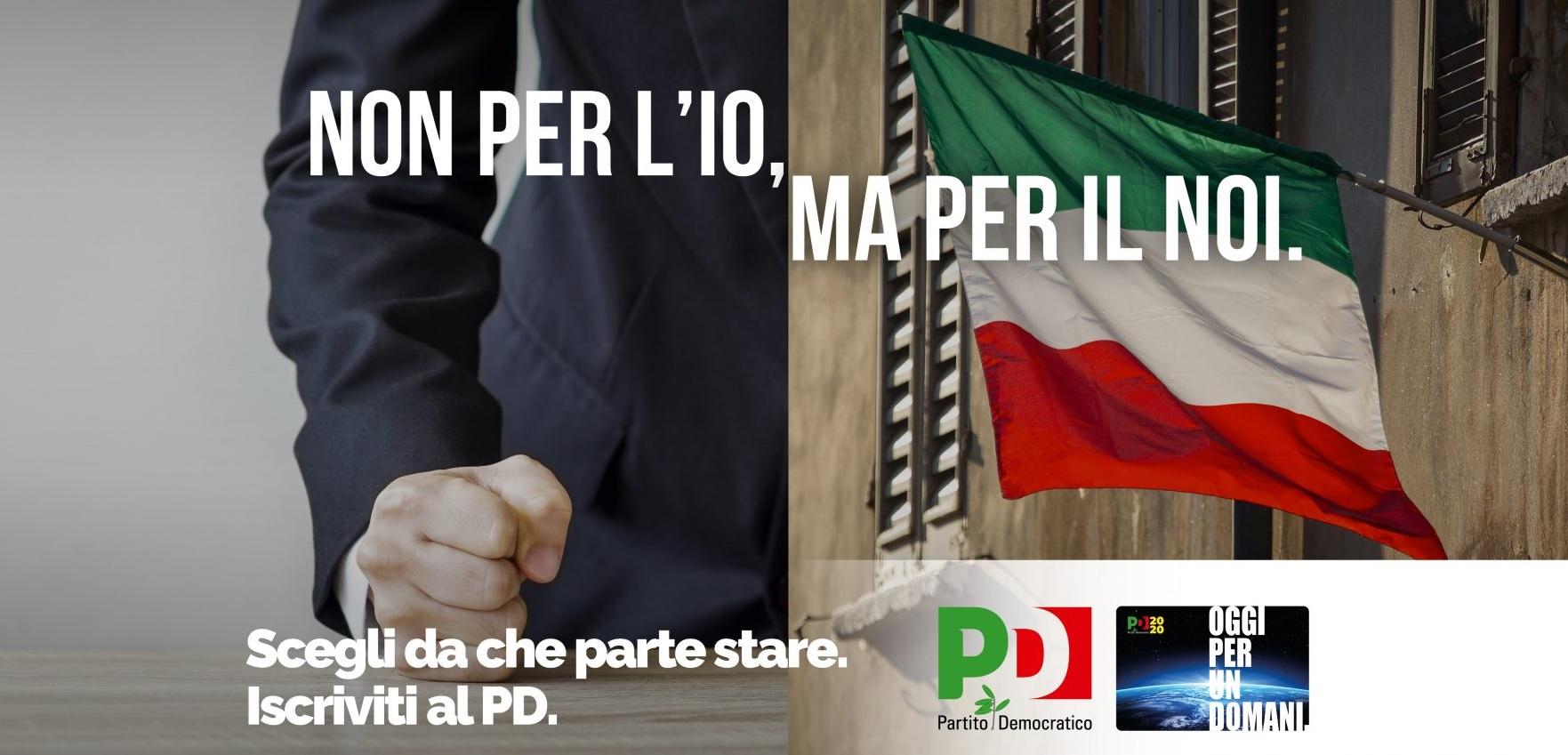 """Iscriviti al PD: per il """"Noi"""""""